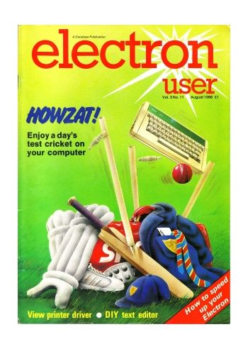 Electron User Vol.3 No.11 August 1986