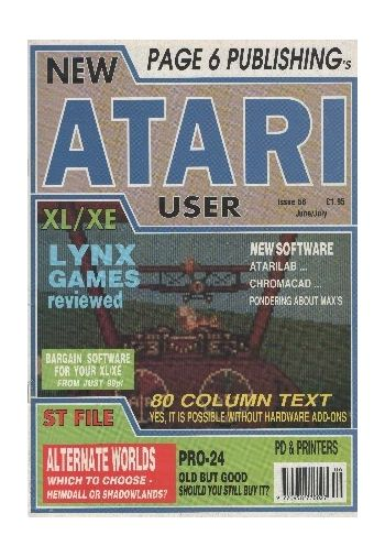 Atari User. Issue 56. June/July 1992