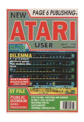 Atari User. Issue 45. August/September 1990