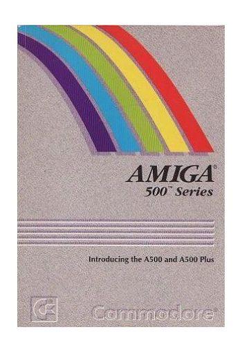 Amiga 500 Series. Manual