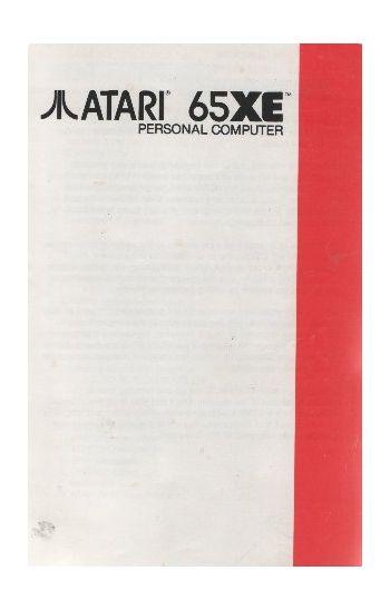 Atari 65XE Manual