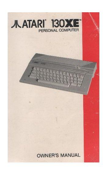 Atari 130XE Owner's Manual.