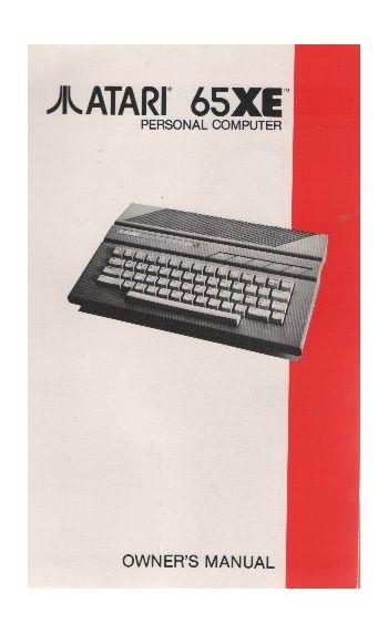 Atari 65XE Personal Computer. Owner's Manual